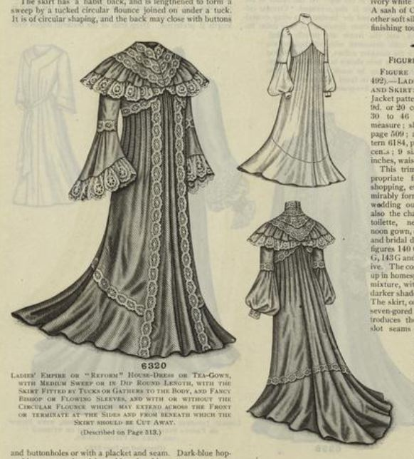 A Reform House Dress or Tea Gown, 1902. New York Public Library