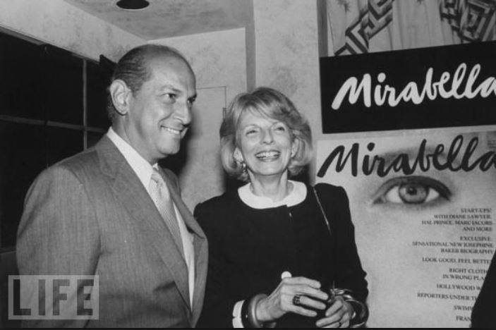 Grace Mirabella and Oscar de la Renta at the opening of the magazine