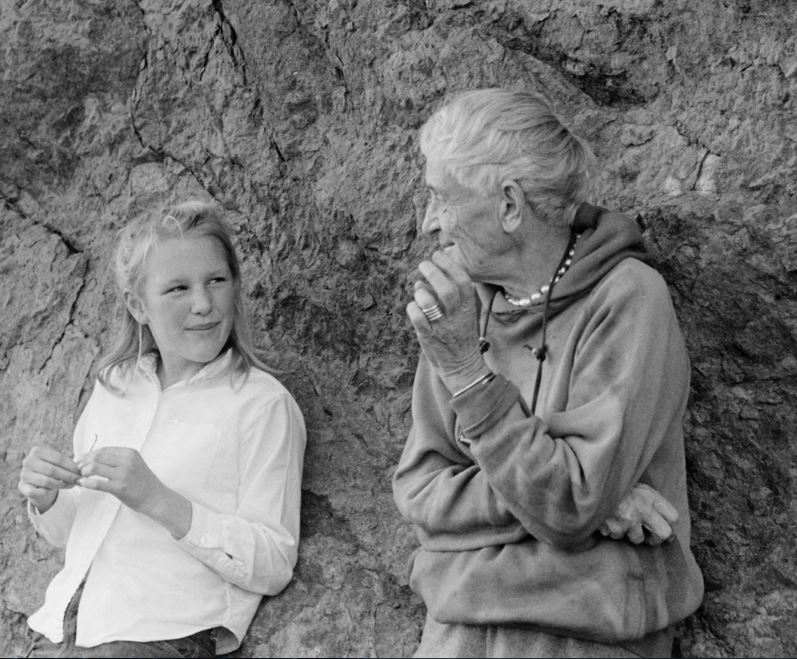 With granddaughter Dyanna Taylor. Photo by Paul S. Taylor, 1963