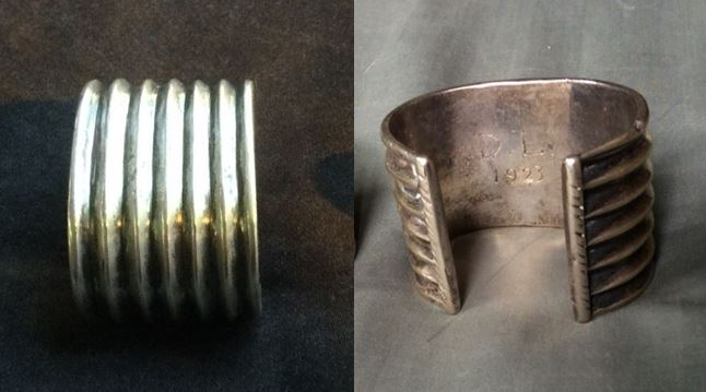 Lange's wedding bracelet from her first marriage to Maynard Dixon. Photos by Lisa Dixon Perrin