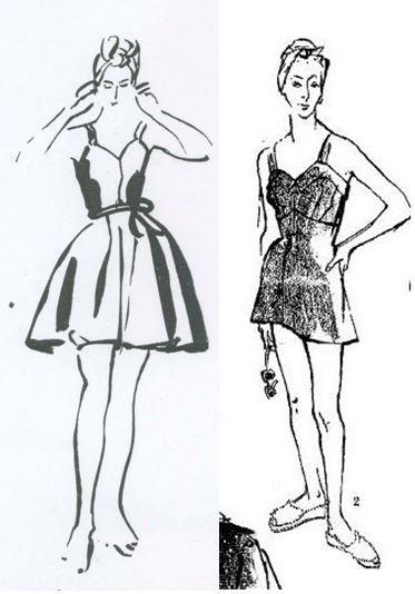 American Vogue, June 1948; British Vogue, July 1950