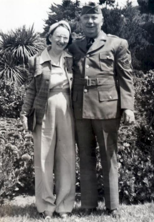 Sally Holt and her cousin, maybe 1945