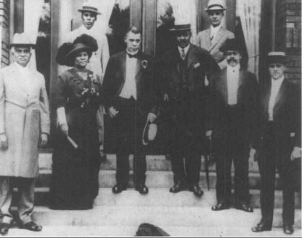With YMCA supporters, 1913
