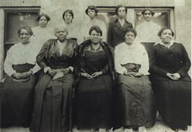Madam C. J. Walker, center, with some of her agents, 1918