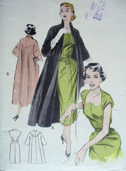 Butterick 6583, 1952. From Vintagepatternwikia.com