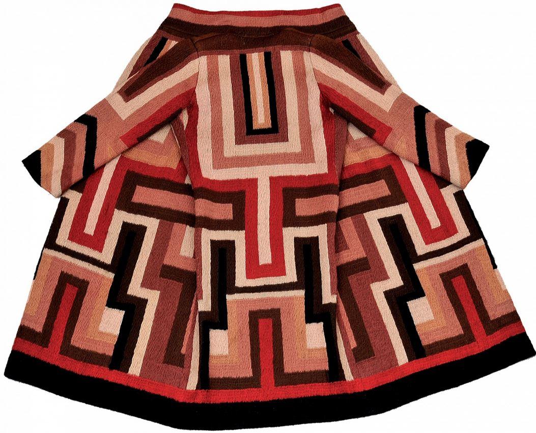 Delaunay coat designed for Gloria Swanson, 1923-24