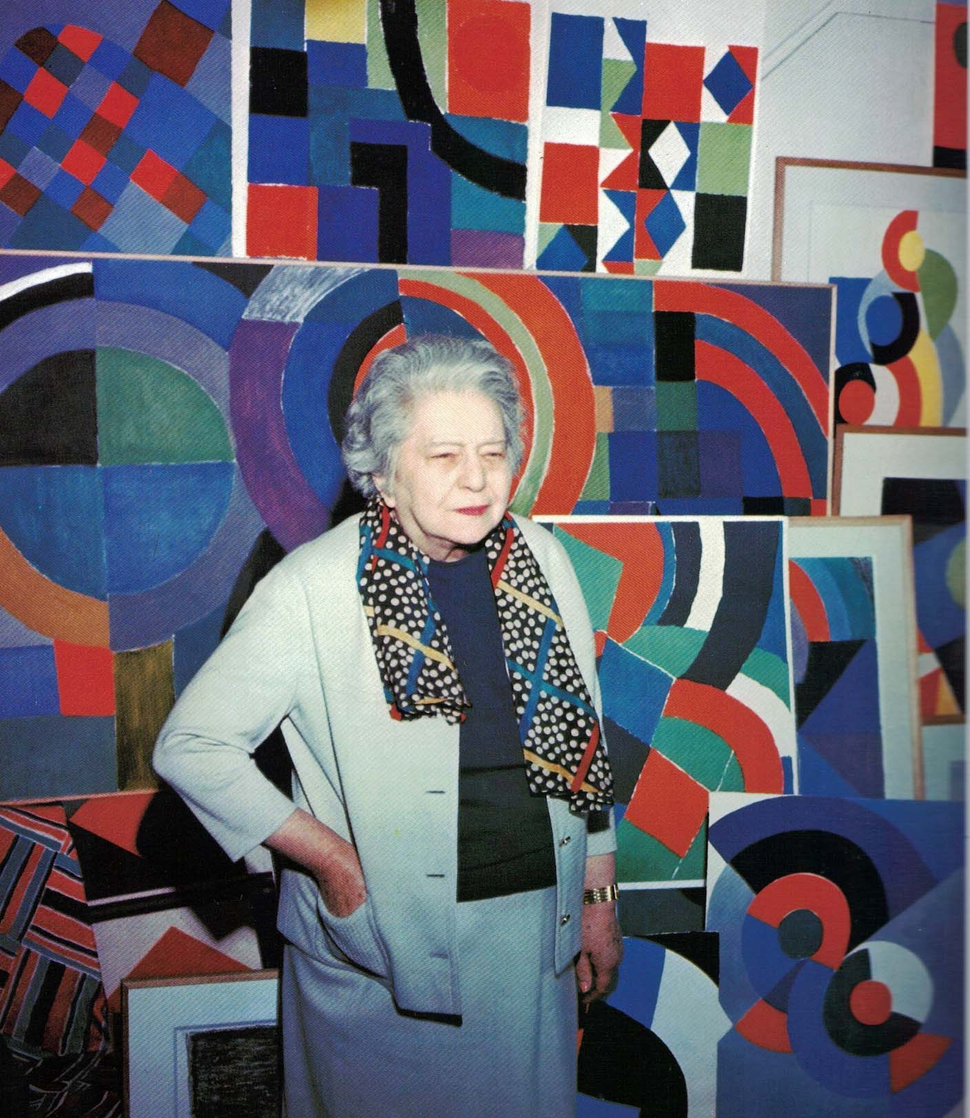 Delaunay in 1968. From Sonia Delaunay—Fashion and Fabric