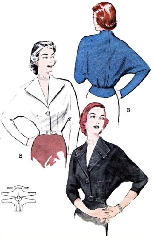 Butterick 5824, 1951. From vintagepatterns.wikia.com