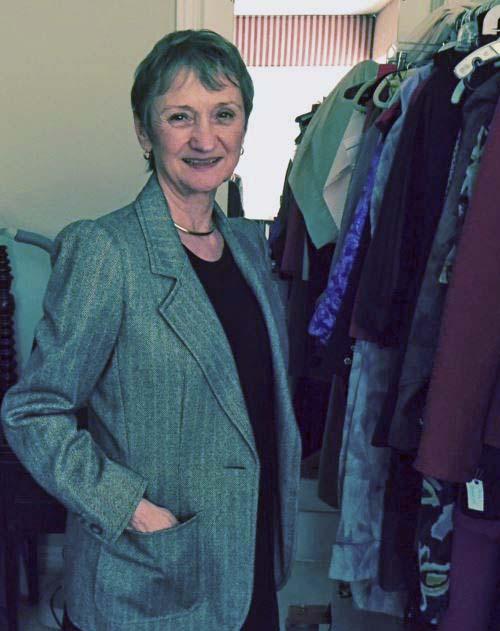 Claire Shaeffer modeling an Yves Saint Laurent jacket