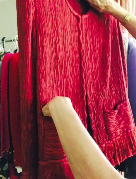 Examining a Chanel jacket