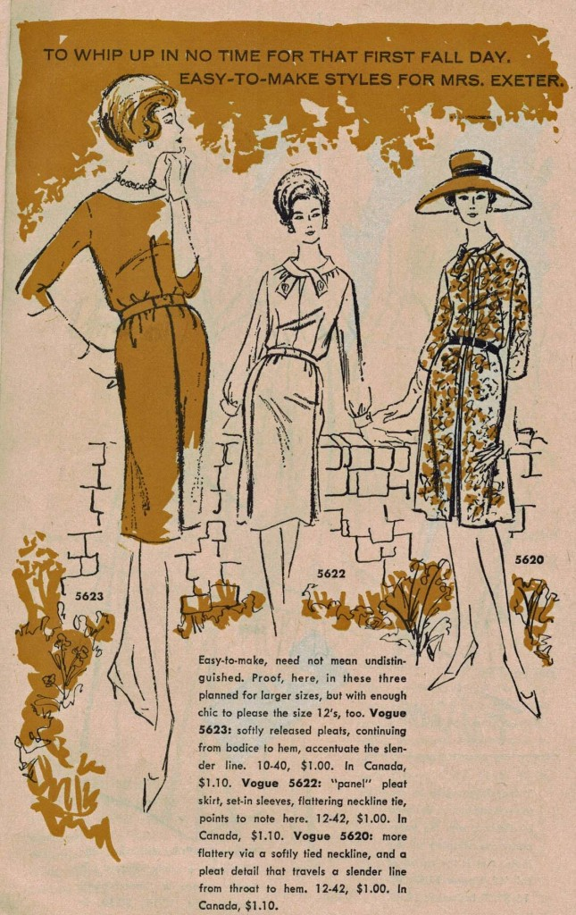 Vogue Pattern News, August 1, 1962. Click to enlarge