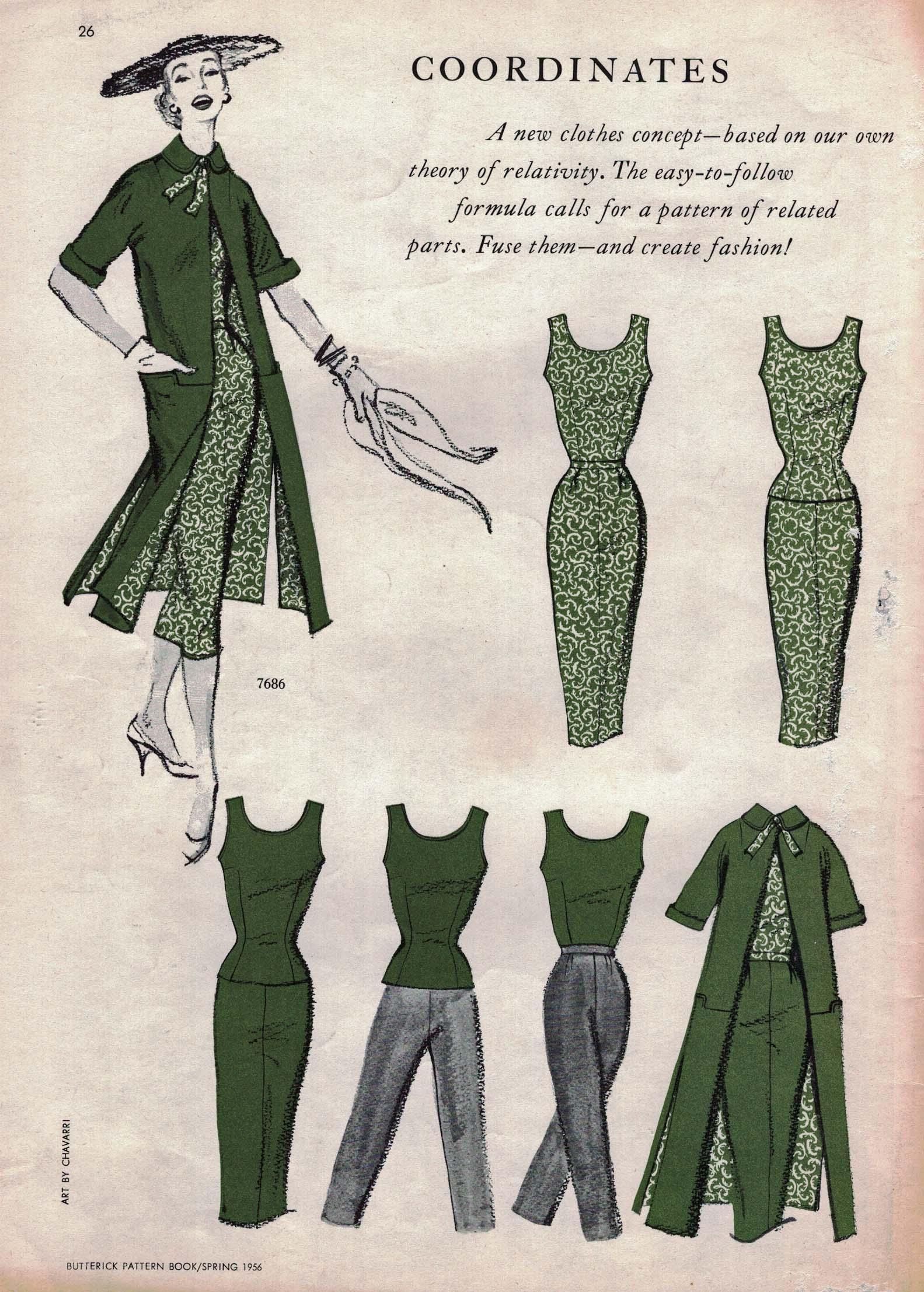 Butterick Pattern Book, Spring 1956
