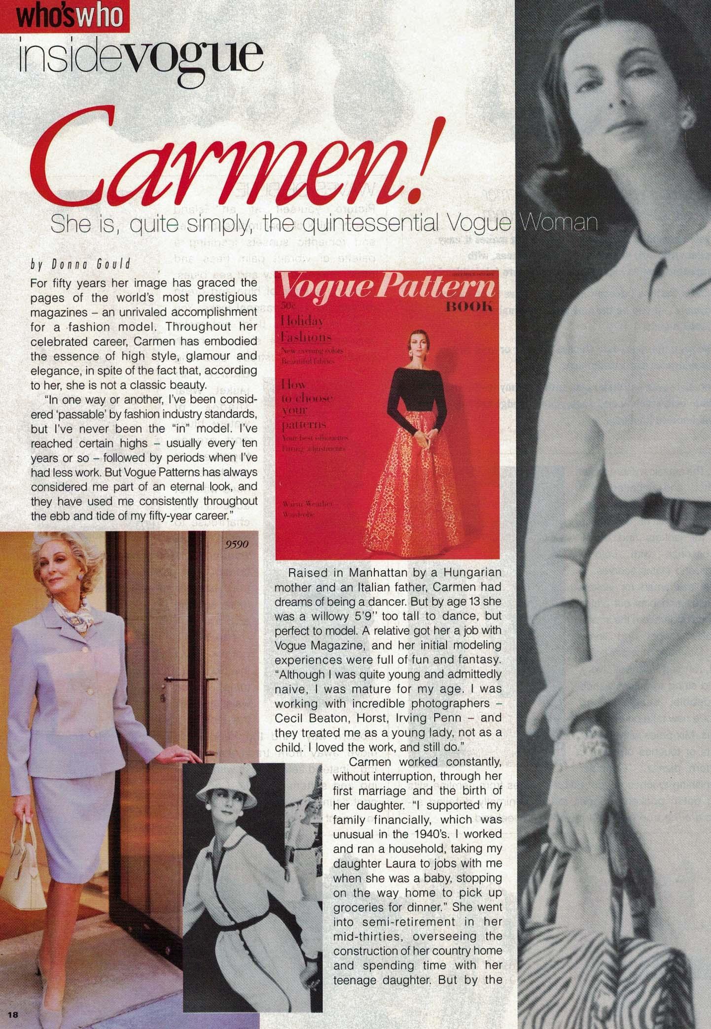 Vogue Patterns, January/February 1997