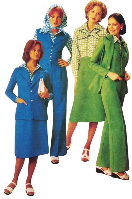 Fashionable Clothing from the Sears Catalog, Late Seventies