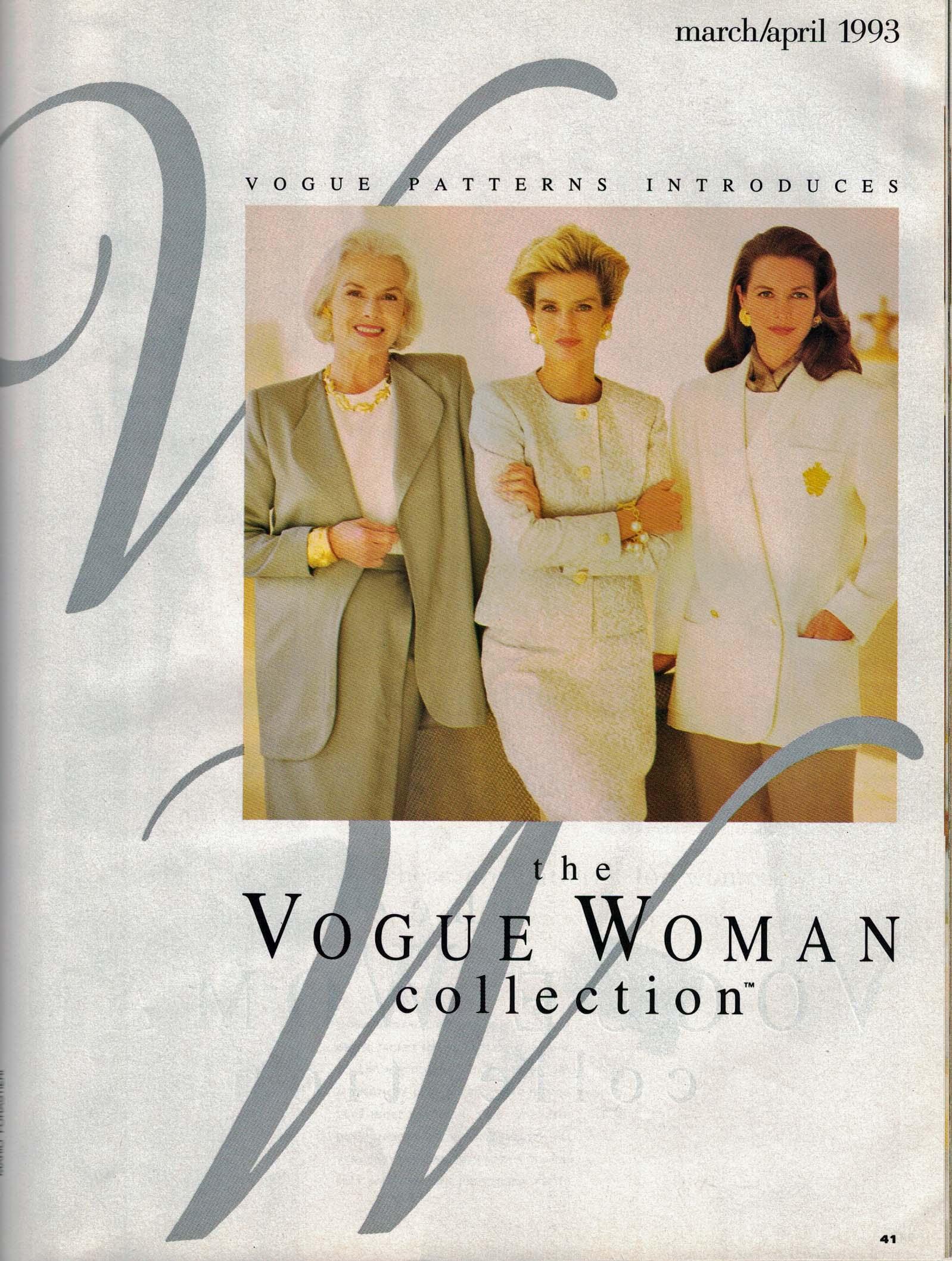 Vogue Patterns, March/April 1993