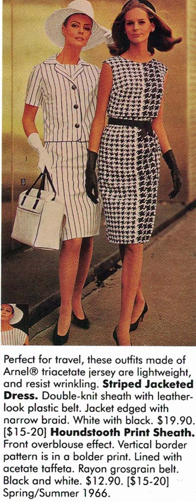 Fashionable Clothing from the Sears Catalogs, Mid 1960s