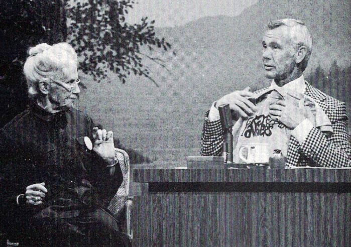 With Johnny Carson, 1974 From No Stone Unturned